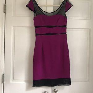 Betsey Johnson fuchsia dress with sweetheart neck